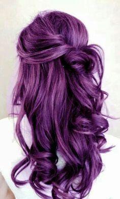 Dark Purple Hair Color Idea For Long