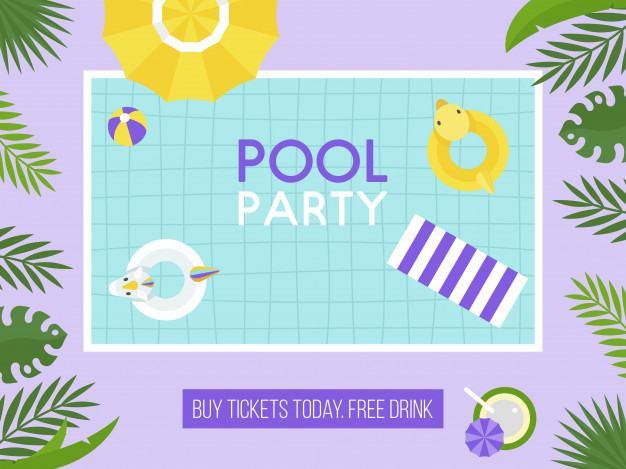 Pool Party Top View Swimming Pool Vector Pool Party Party Swimming Pools