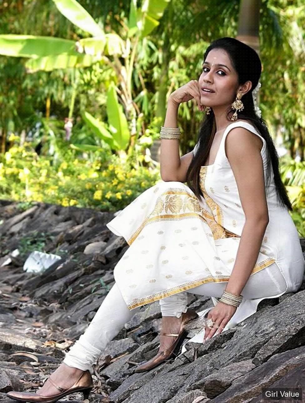 Ranjini Haridas in churidar and kameez
