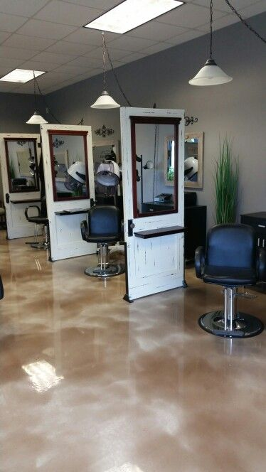 hair style station calming effects repurposed doors salon stations spa 3776