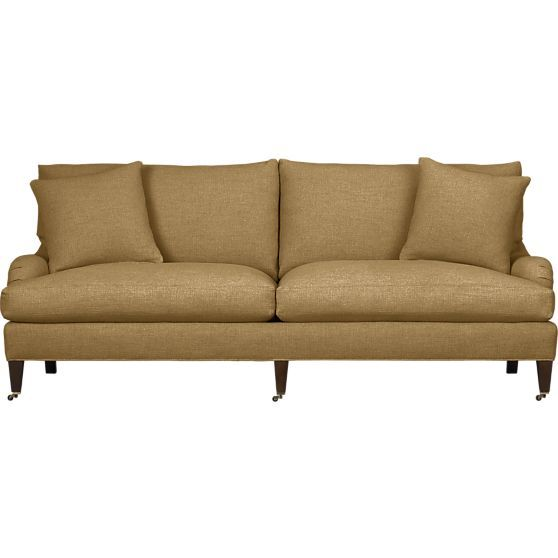 Essex sofa with casters crate and barrel crates for Crate and barrel sofa