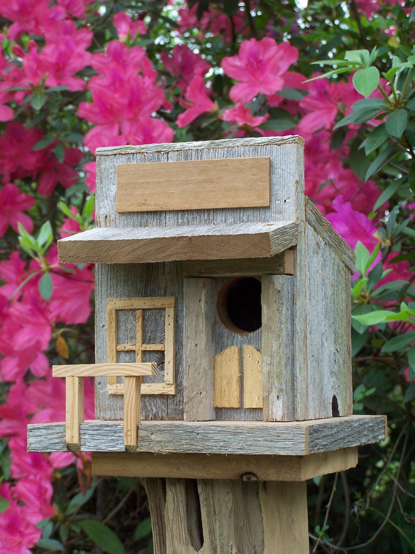 Rustic Cedar Old West Style Birdhouse.