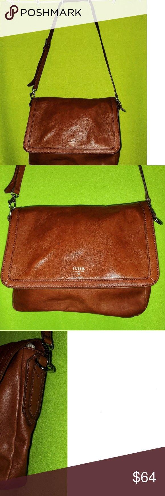 just added this listing on Poshmark: Fossil Tan Leather Sydney Flap Shoulder Purse.I just added this listing on Poshmark: Fossil Tan Leather Sydney Flap Shoulder Purse.  14