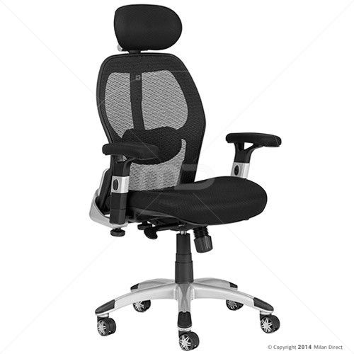 Deluxe Mesh Ergonomic Office Chair With Headrest Chairs And