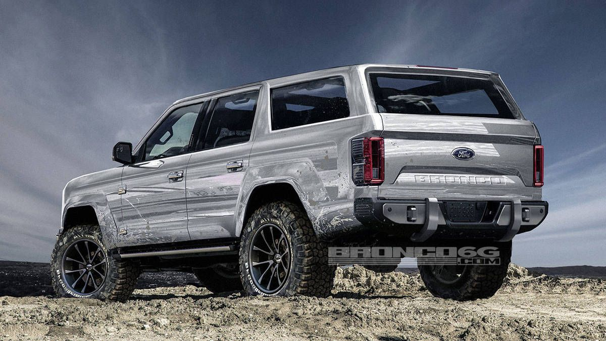 Ford Bronco Rendered With Four Doors Coming For The Wrangler In