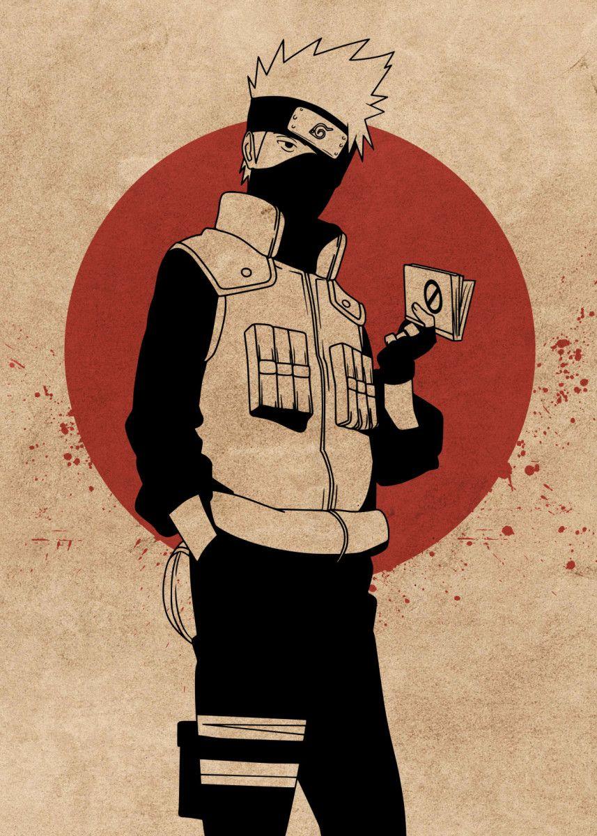 Photo of 'Kakashi Hatake Naruto' Metal Poster Print – Everything Anime   Displate