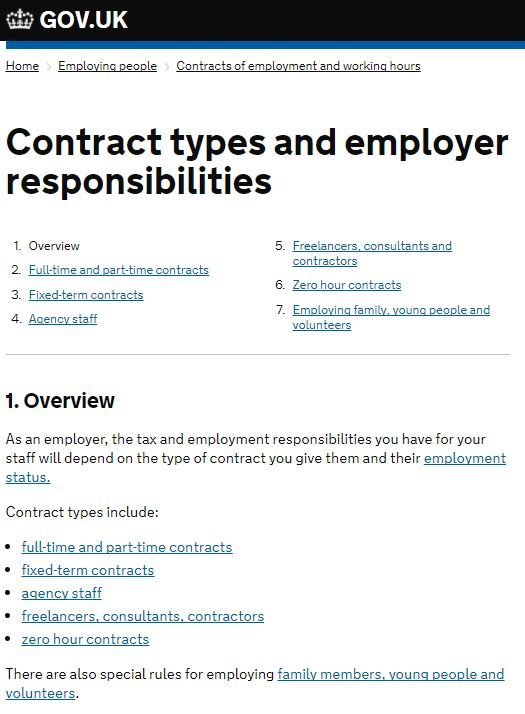 Types Of Employment Contracts Tender Acceptance Letter Acceptance