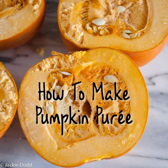 Ditch the canned pumpkin this year! Here's how to make pumpkin purée - #unprocessed