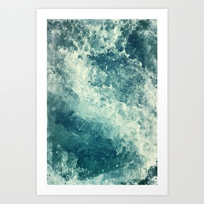 Water I Art Print by Dr Lukas Brezak $18 00 Looks really cool