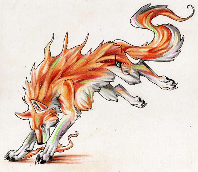 Wolf Trade Colors Of Fire By Lucky978 On Deviantart Anime Wolf Wolf Drawing Cute Wolf Drawings