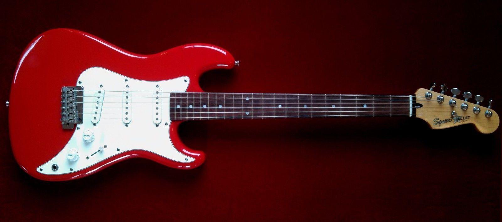 vintage 1987 fender squier bullet 1 one stratocaster electric guitar made in korea mik e7. Black Bedroom Furniture Sets. Home Design Ideas