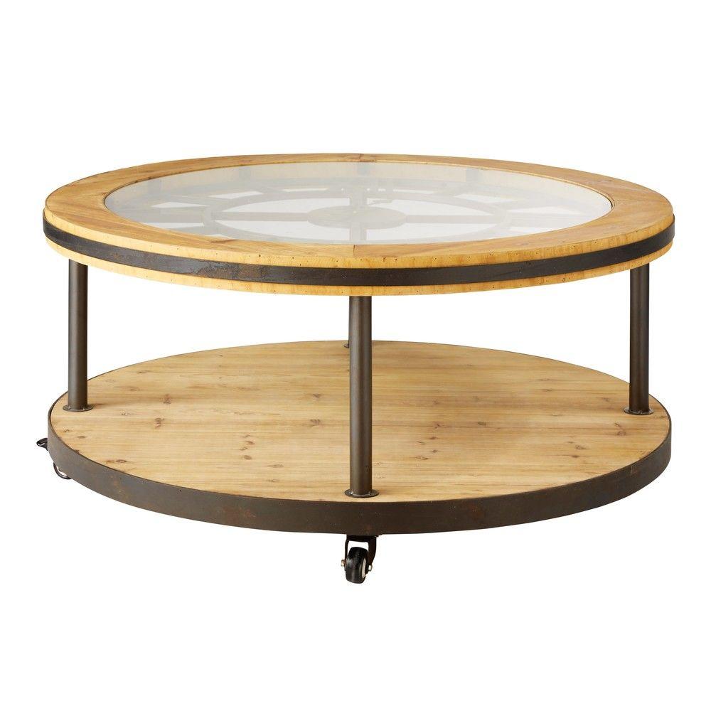 Table Basse Ronde Horloge Maison Du Monde