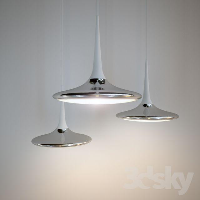 3d models: Ceiling light Tobias Grau Falling Leaf