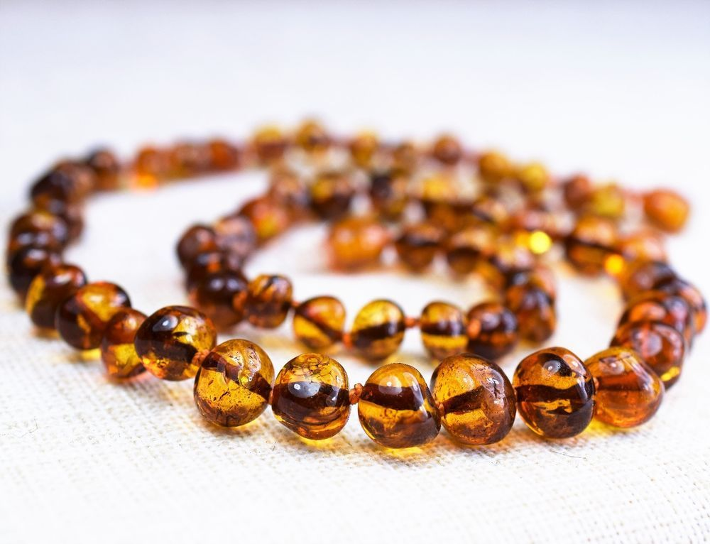 Adult amber necklace, Baltic amber, necklace cognac color #Handmade #Necklace