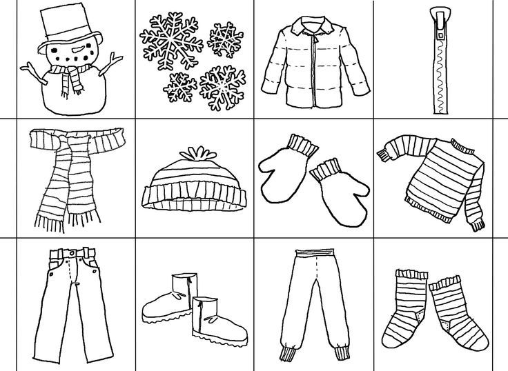 The Jacket I Wear In The Snow Bingo Coloring pages