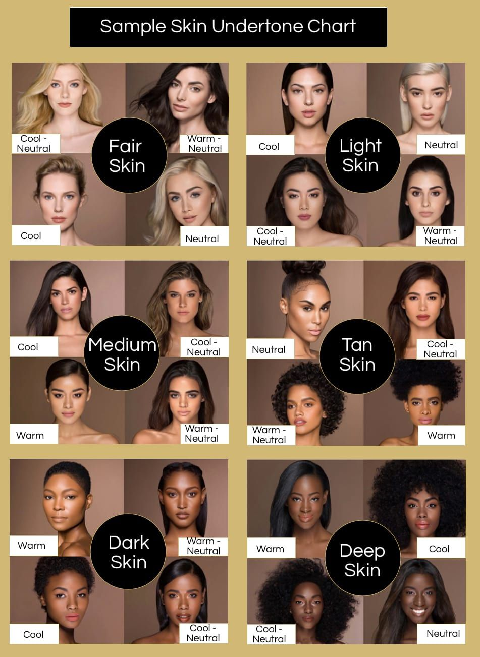 Find Your Skin Undertone to Match Your Hair Color Sample