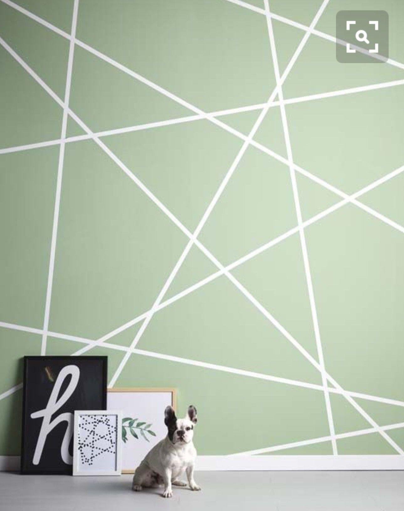 Geometrische wand | Geometrische wand, Malerei ...