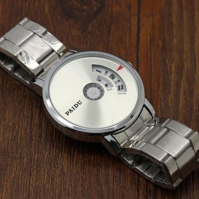 Turntable Dial PAIDU Saat Net Mesh Steel Band Wrist Fashion Watch Men Women Gift AU