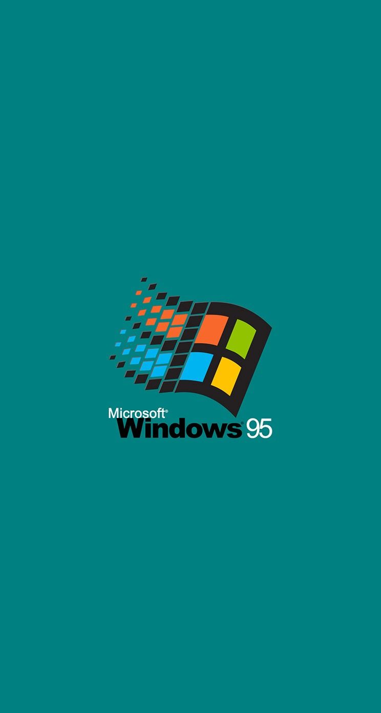 Retro Windows  Wallpaper Geeky Teal Original
