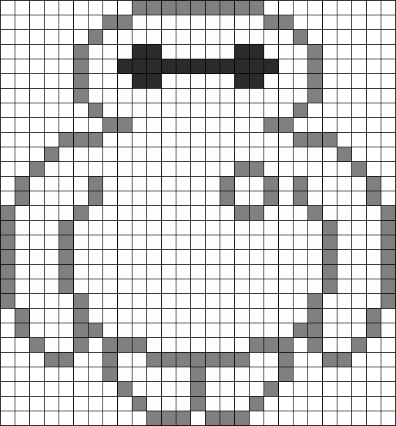 Baymax Perler Bead Pattern / Bead Sprite for crochet pattern graph ...