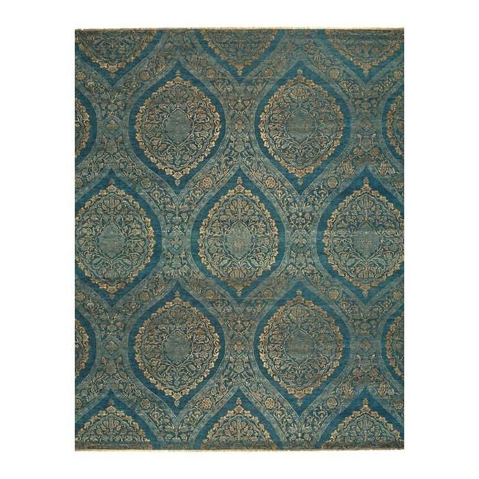Amalfi 7075f 11 6 X 15 Teal Gold Area Rug Nebraska Furniture