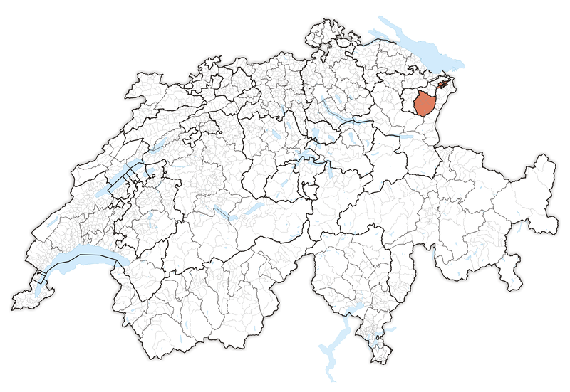 Location in Switzerland Map of Appenzell Innerrhoden CRISTIAN
