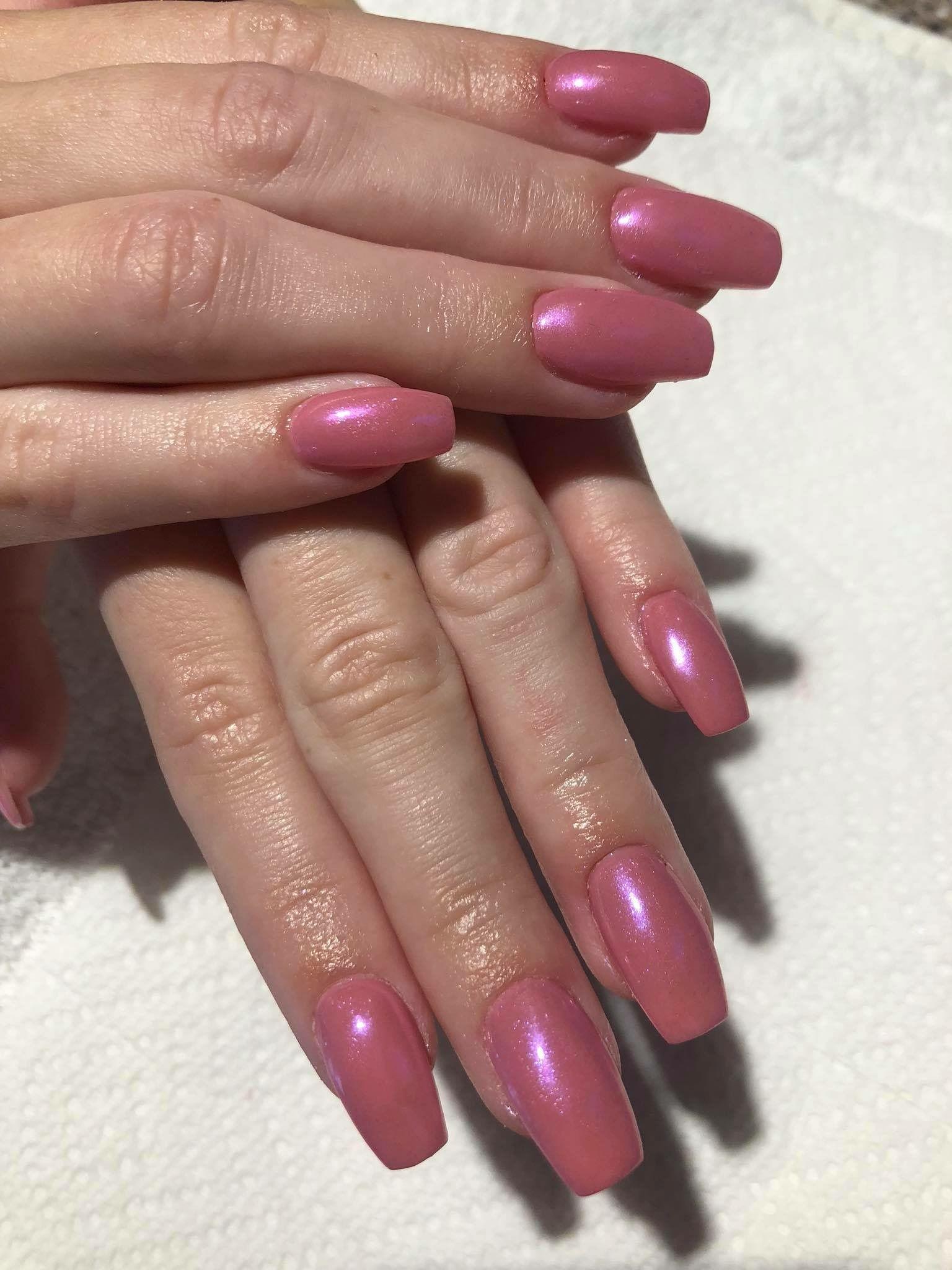 Strawberry Organic Nail&Spa Pink Crome Dip Powder | Nails | Powder ...