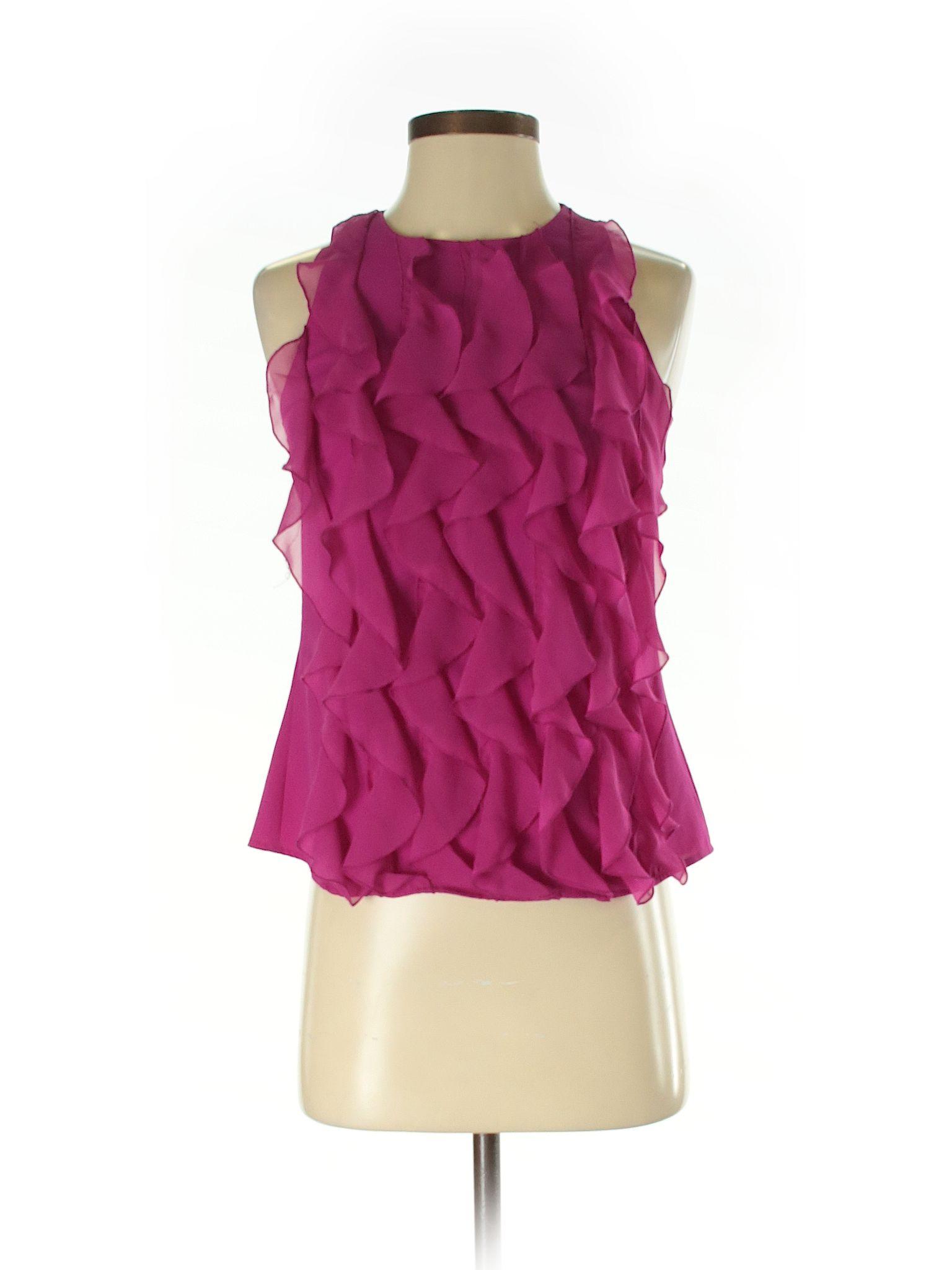 Trulli Sleeveless Blouse Size 000 Pink Womens Tops  $1199