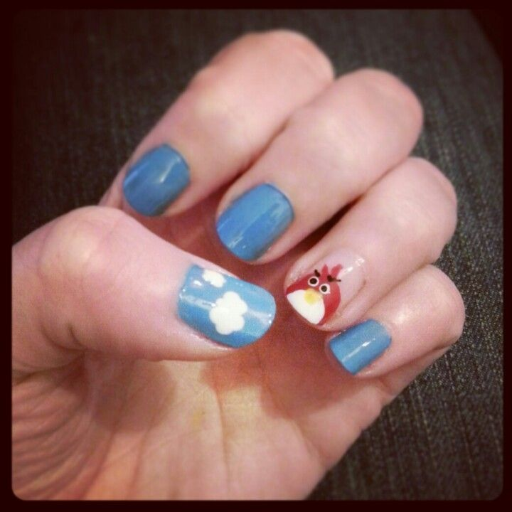 Angry Bird Accent Nail.