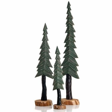 Glenna Jean Carson Wood Pine Trees Decor Set Of 3 Free Shipping Pine Tree Art Tree Decorations Wooden Christmas Trees