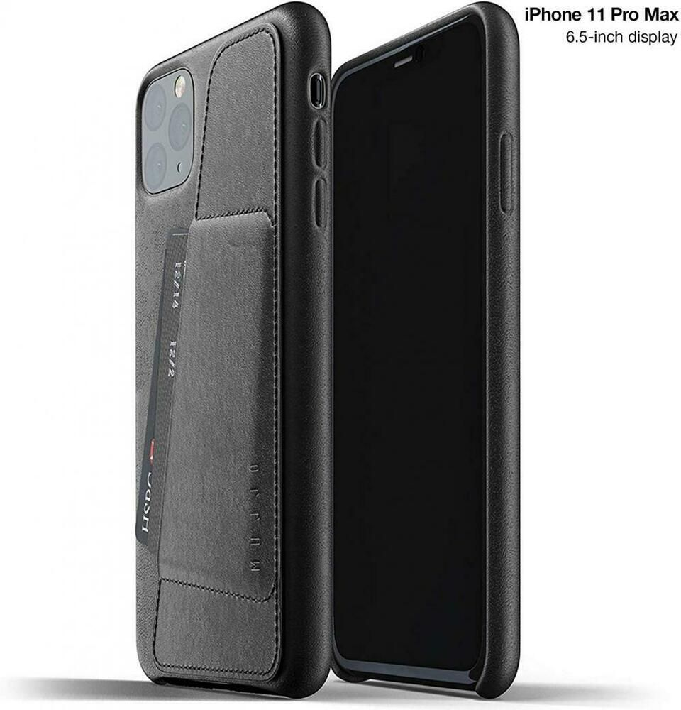 Full leather wallet case for apple iphone 11 pro max card