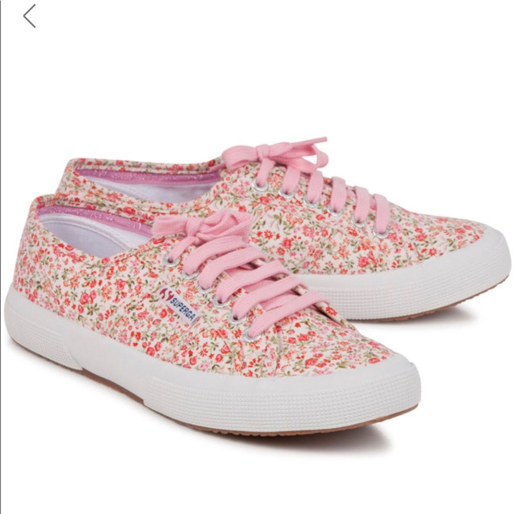 watch quality design new photos Superga Shoes | Floral Superga Sneakera | Color: Pink/White | Size ...