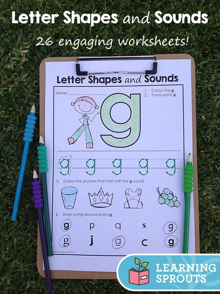 Letter Shapes and Sounds 26 Engaging Worksheets