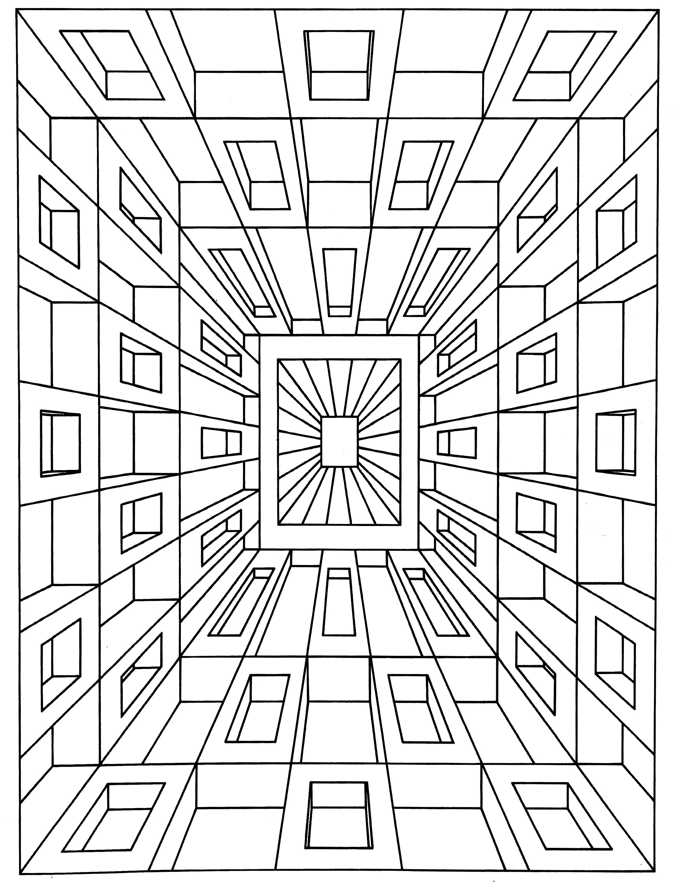To print this free coloring page «coloring-op-art-jean-larcher-1 ...