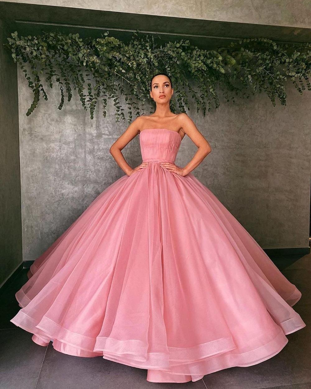 rose pink dress plus size