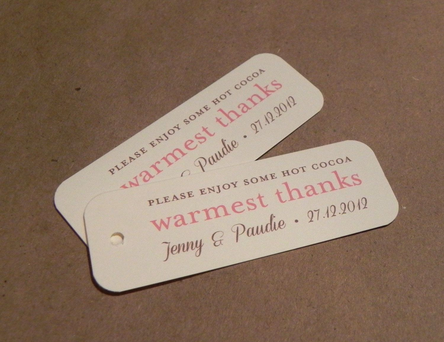 Holiday Favor Gift Tag / Warmest Wishes / Mr and Mrs Wedding Tag ...
