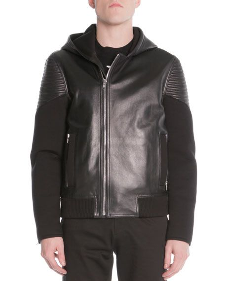 Givenchy Mixed Media Moto Jacket, Black $3165. 26 May 2016 on sale on Bergdorf Goodman was $3165, now $1899 sizes: L/52.