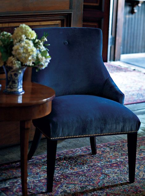 Blue Velvet Accent Chairs