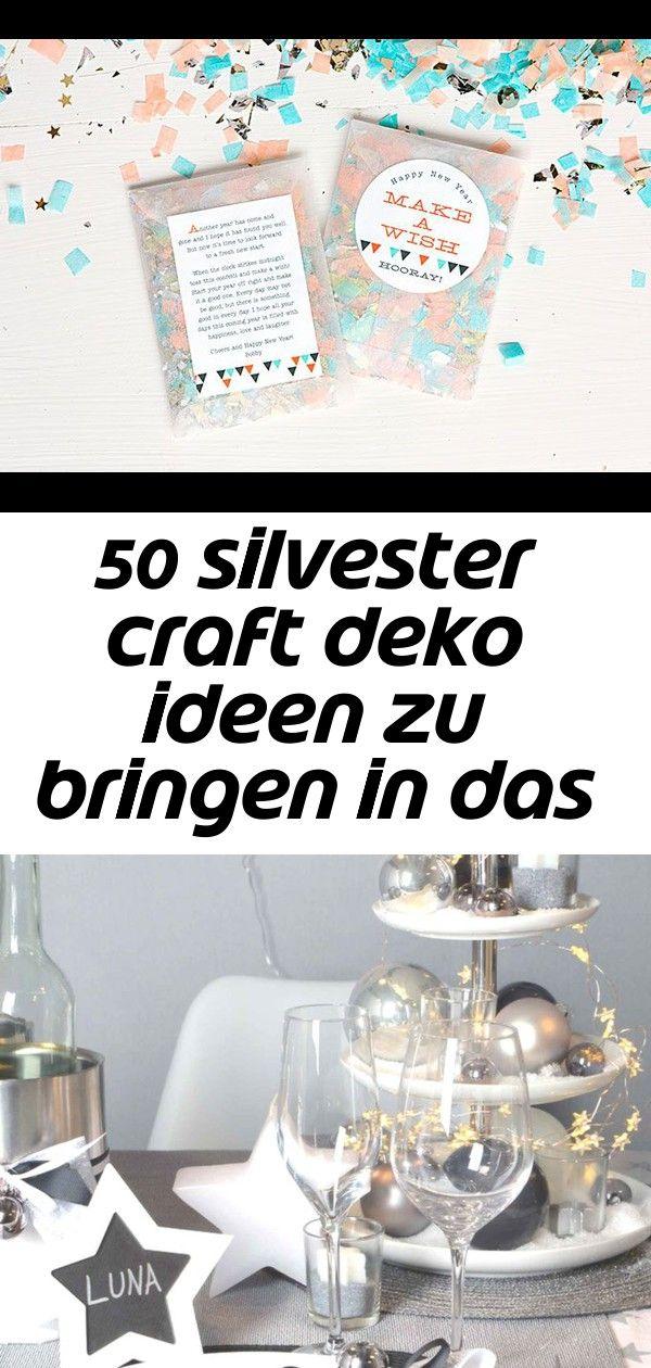 50 silvester craft deko ideen zu bringen in das neue jahr 41 #geisterbasteln