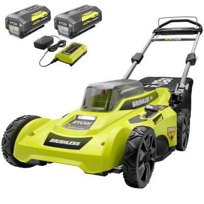 Ryobi 20 In 40 Volt Brushless Lithium Ion Cordless Battery Walk Behind Push Lawn Mower 2 6 0 Ahbatteries Charger Included Ry401110 2b In 2020 Push Lawn Mower Cordless Lawn Mower Lawn Mower