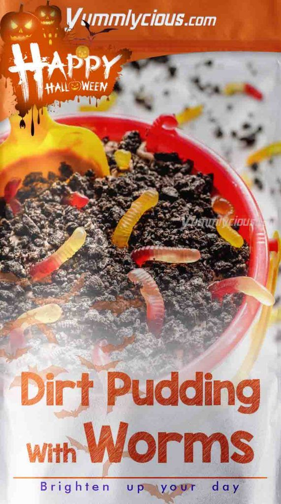 Dirt Pudding With Worms Recipe   Yummlycious
