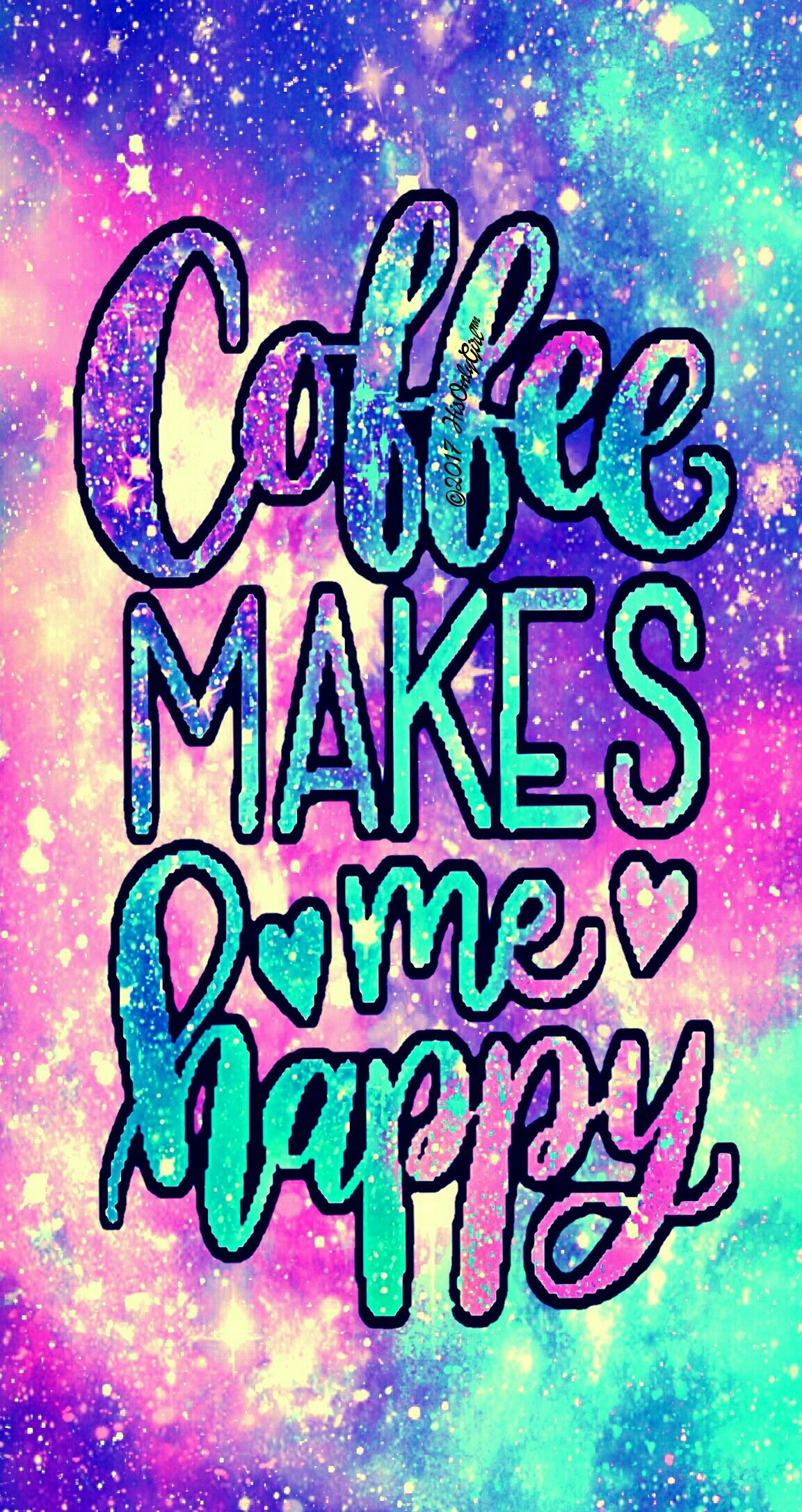 Happy coffee galaxy wallpaper I created for the app CocoPPa