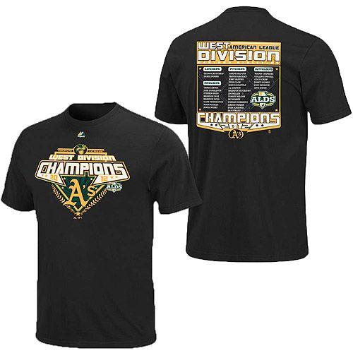 8af86b7e Oakland Athletics 2012 AL West Division Champions Roster T-Shirt ...
