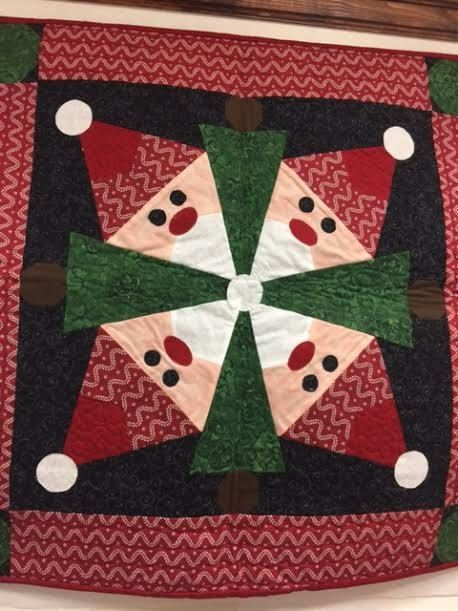 nordic elves table topper 28 square quilt christmas quilt