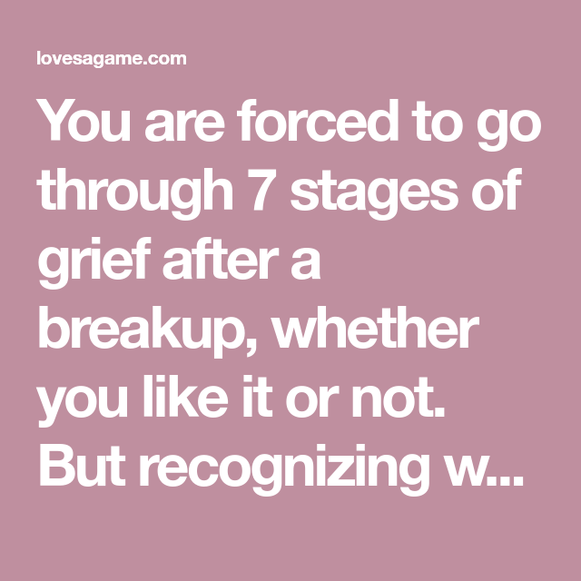 Grief the up stages of 7 break The 5