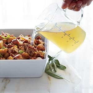 Sausage, Apple and Cranberry-Nut-Bread Dressing Recipe | MyRecipes.com