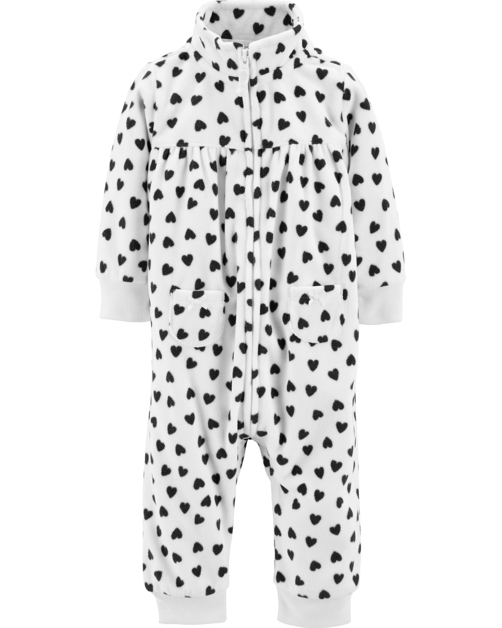 f26965b1a9a7 Heart Fleece Jumpsuit