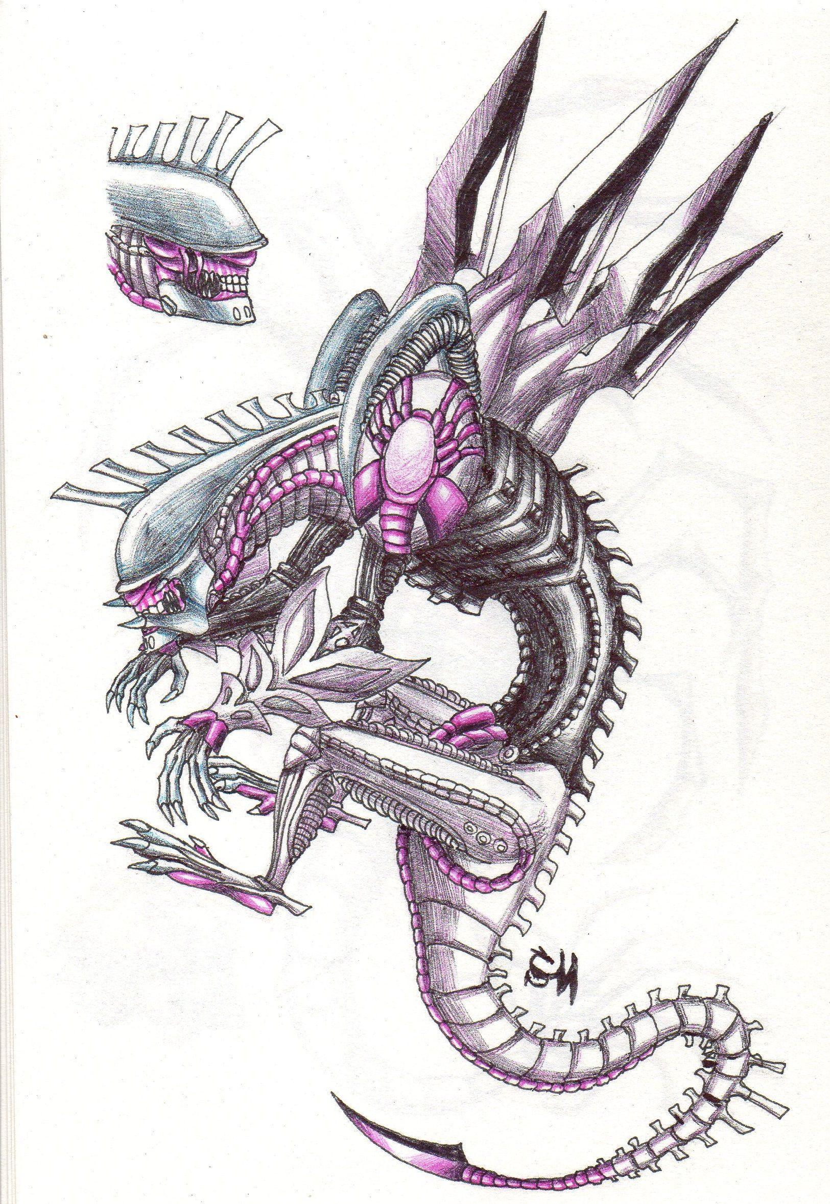 Xenomorph Palkia Alien Xenomorph Palkia Pokemon Art Drawing
