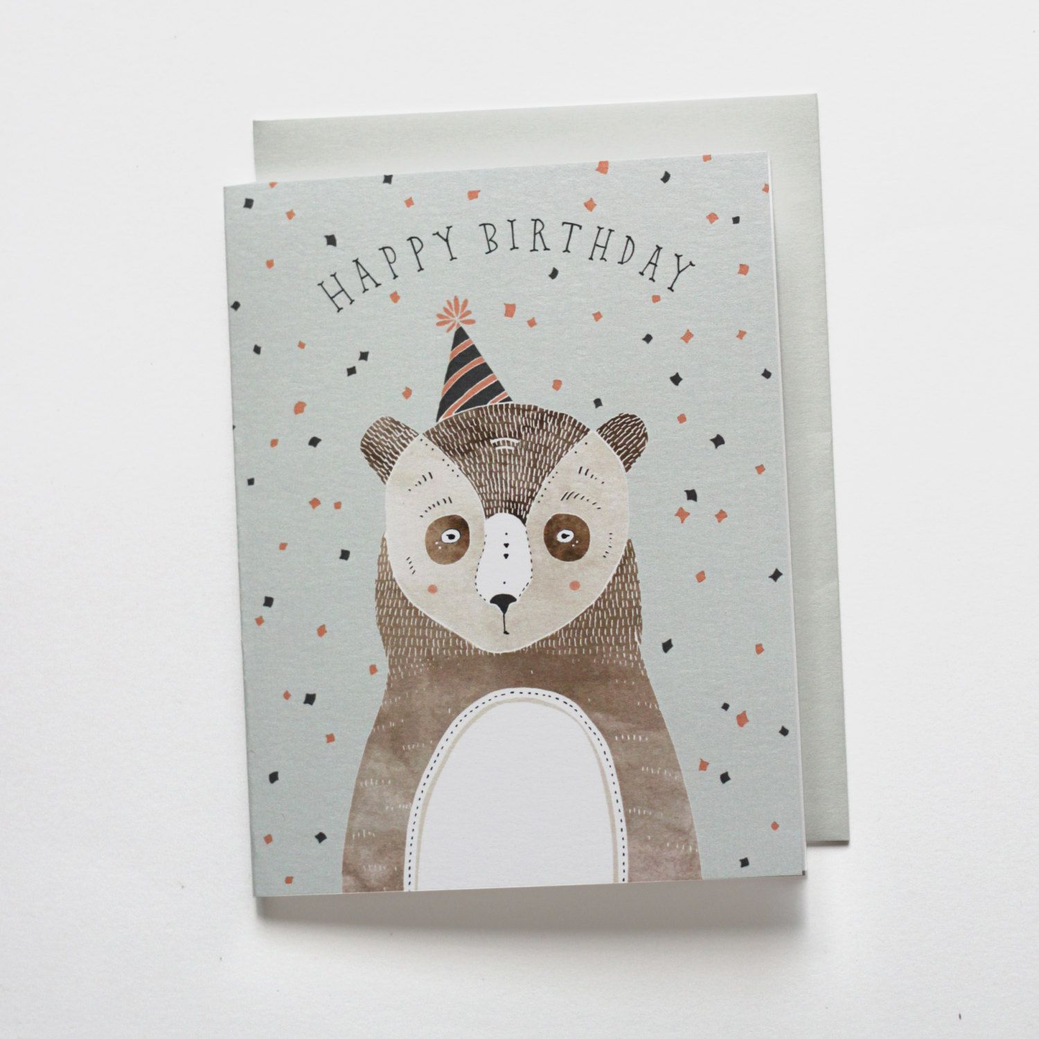 Birthday Bear Card 1 Pc Bears Birthdays And Happy Birthday