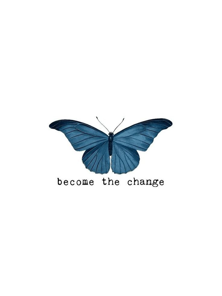 'Blue Butterfly - Become The Change' iPhone Case by Sago-Design